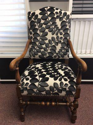 Fauteuil feuilles - Tapissier fauteuil, restauration fauteuil proche Strasbourg (67/Bas-Rhin/Alsace)
